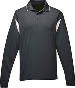 TRI MOUNTAIN Mens Action Long Sleeve Polo