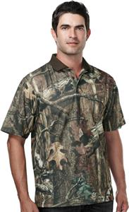Mens Momentum Hunting Camo Polo Shirt