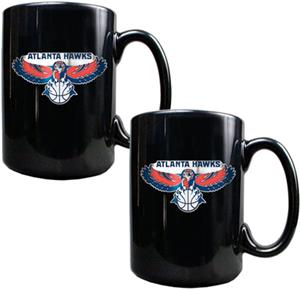 NBA Atlanta Hawks Black Ceramic Mug (Set of 2)