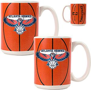 NBA Atlanta Hawks GameBall Mug (Set of 2)