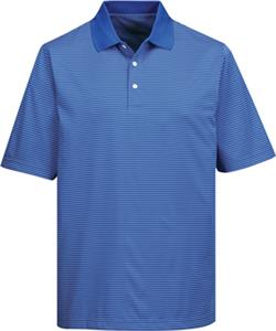 TRI MOUNTAIN Mens Elgin Thin Stripe Polo