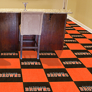Fan Mats NFL Cleveland Browns Carpet Tiles