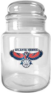 NBA Atlanta Hawks Glass Candy Jar