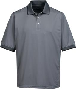 TRI MOUNTAIN Mens Sterling Poly Pique Polo