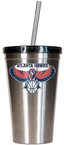 NBA Atlanta Hawks 16oz Stainless Tumbler w/Straw