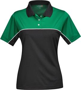 Women&#39;s Double-Clutch Racewear Short Sleeve Polo