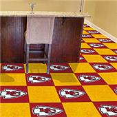 Fan Mats NFL Kansas City Chiefs Carpet Tiles