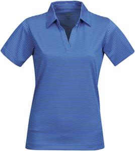 Tri Mountain Lady Elgin Poly Thin Stripe Polo