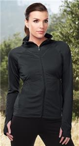 Womens Alyssa Poly Jacket Thumbhole Cuffs