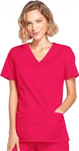 Cherokee Women&#39;s Mock Wrap Scrub Tops