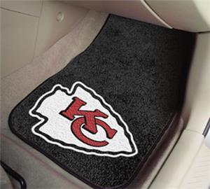 Fan Mats Kansas City Chiefs Carpet Car Mats