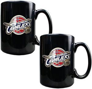 NBA Cavaliers Black Ceramic Mug (Set of 2)