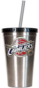 NBA Cavaliers 16oz Stainless Tumbler w/Straw