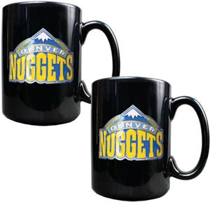 NBA Denver Nuggets Black Ceramic Mug (Set of 2)