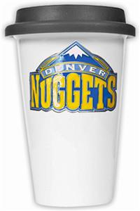 NBA Denver Nuggets Ceramic Cup with Black Lid