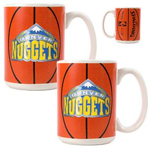 NBA Denver Nuggets GameBall Mug (Set of 2)