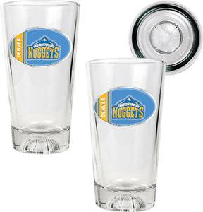 NBA Denver Nuggets 2 Piece Pint Glass Set