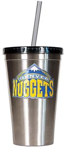 NBA Denver Nuggets 16oz Stainless Tumbler w/Straw