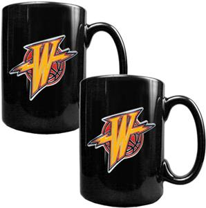 NBA Warriors Black Ceramic Mug (Set of 2)