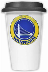 NBA Warriors Ceramic Cup with Black Lid