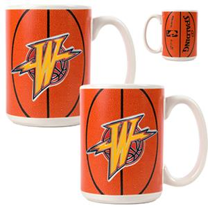 NBA Golden State Warriors GameBall Mug (Set of 2)