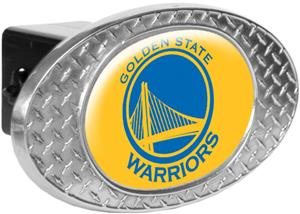 NBA Warriors Diamond Plate Hitch Cover