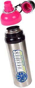 NBA Golden State Warriors Water Bottle w/Pink Top