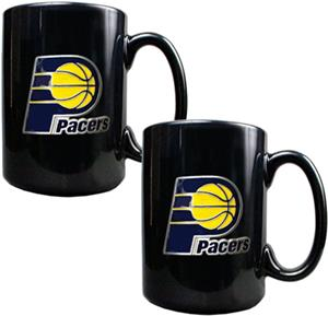 NBA Indiana Pacers Black Ceramic Mug (Set of 2)