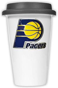 NBA Indiana Pacers Ceramic Cup with Black Lid