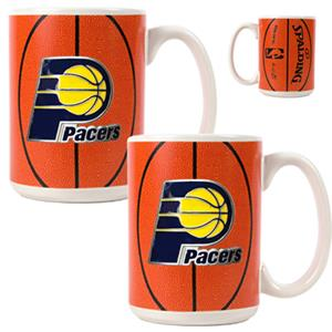 NBA Indiana Pacers GameBall Mug (Set of 2)