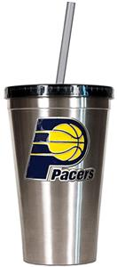 NBA Indiana Pacers 16oz Stainless Tumbler w/Straw