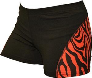 Gem Gear Cobra Orange Zebra Compression Shorts