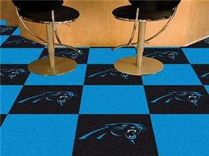 Fan Mats NFL Carolina Panthers Carpet Tiles