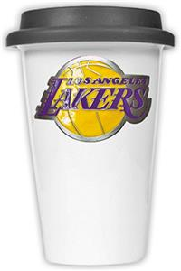 NBA Los Angeles Lakers Ceramic Cup with Black Lid