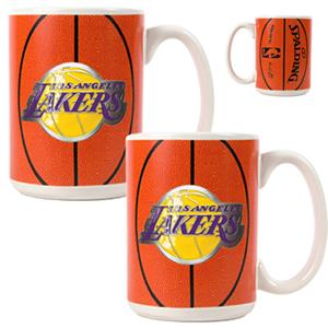NBA Los Angeles Lakers GameBall Mug (Set of 2)