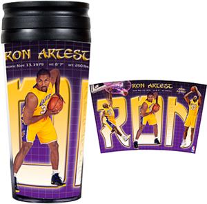 NBA Lakers Ron Artest 16oz. Travel Tumbler