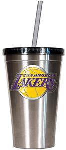 NBA Lakers 16oz Stainless Tumbler w/Straw