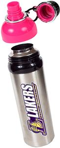 NBA Los Angeles Lakers Water Bottle w/Pink Top
