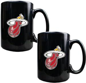 NBA Miami Heat Black Ceramic Mug Set of 2