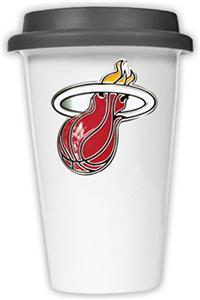 NBA Miami Heat Ceramic Cup with Black Lid