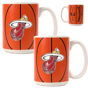 NBA Miami Heat GameBall Mug (Set of 2)