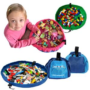 Lay-n-Go LITE Mini Mat Seals Up To Carry Toys Bag