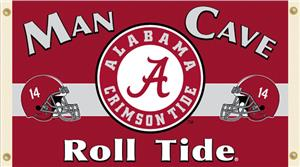 Collegiate Alabama Man Cave 3' x 5' Flag