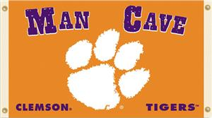 Collegiate Clemson Tigers Man Cave 3' x 5' Flag