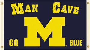 Collegiate Michigan Man Cave 3&#39; x 5&#39; Flag