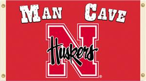 Collegiate Nebraska Man Cave 3' x 5' Flag