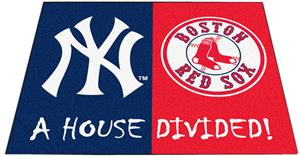 Fan Mats MLB Yankees/Red Sox House Divided Mat