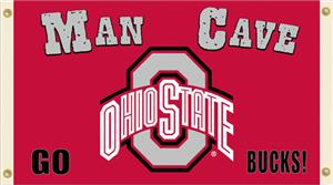 Collegiate Ohio State Man Cave 3' x 5' Flag