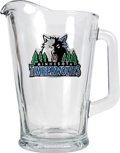 NBA Timberwolves 1/2 Gallon Glass Pitcher