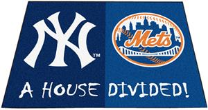 Fan Mats MLB Yankees/Mets House Divided Mat